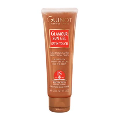 Guinot Glamour Sun Gel SPF15 csillogó fényvédő gél