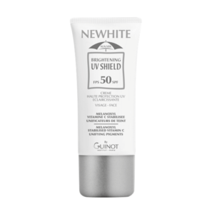 Guinot Newhite Brightening UV Shield SPF50 fényvédő hiperpigmentált bőrre